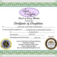 Certified Crystal Reiki Level Two
