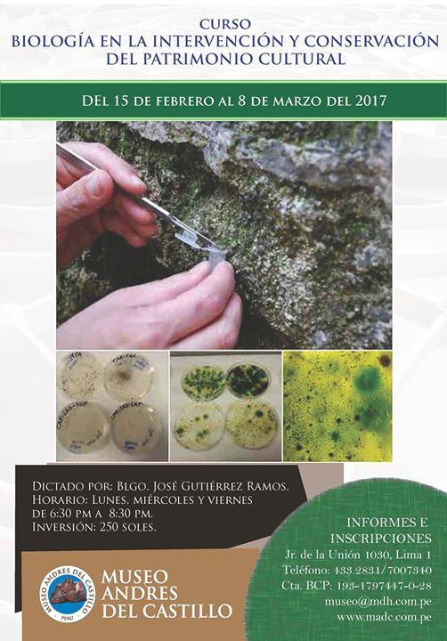 Biologa en la Intervencin y Conservacin del Patrimonio