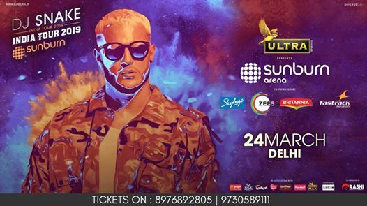 Sunburn Arena with Dj Snake - Delhi NCR