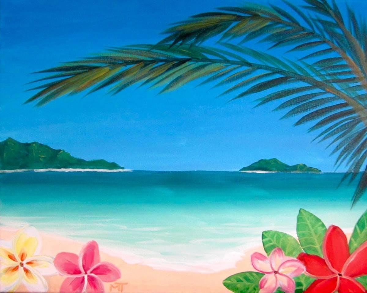 Wine & Canvas Painting Class: Hawaiian Tropics at Coastal Kitchen ...