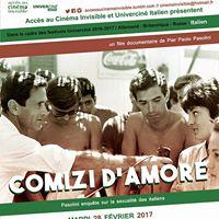 Comizi dAmore de Pasolini en prambule dUnivercin Italien