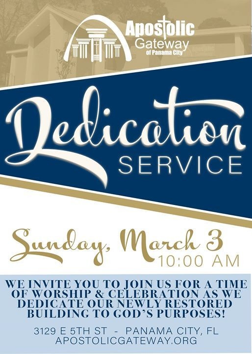 Building Dedication Service at Apostolic Gateway, Florida