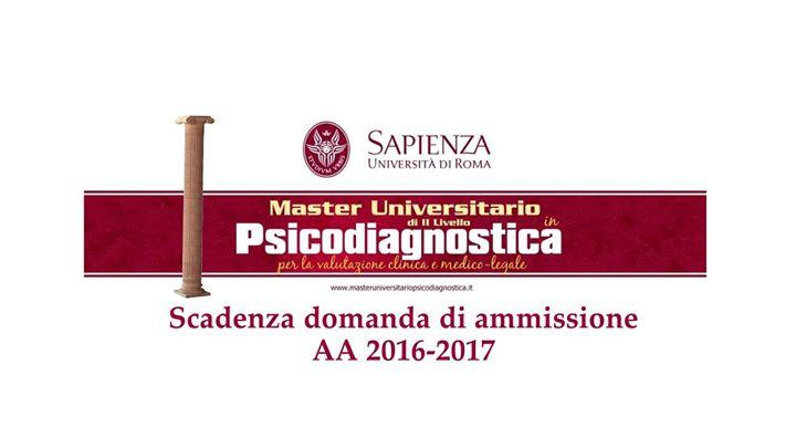 Scadenza domanda ammissione allAA 2016-2017
