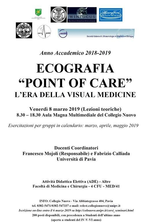 Unipv Calendario.Ade Ecografia Point Of Care 4 5 6 Anno Unipv At Collegio