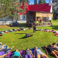 Free Park Yoga Class in Turku with Happy Jack Yoga