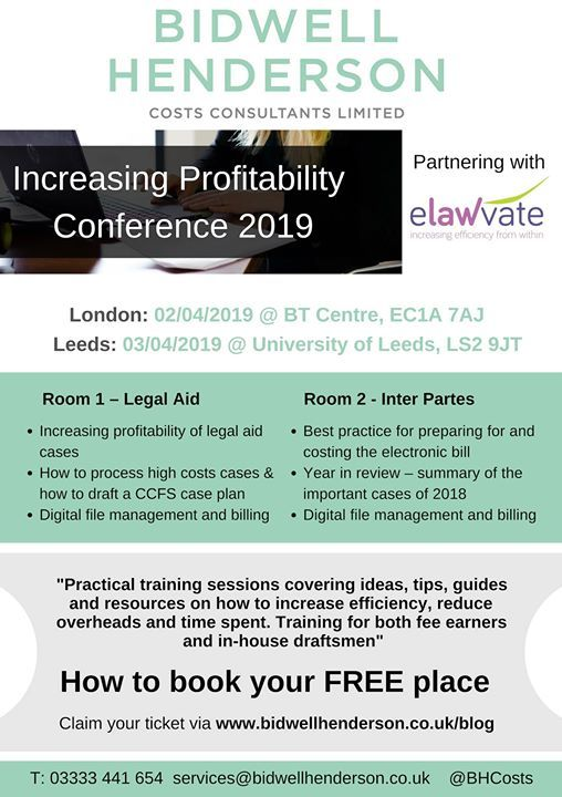 Free Increasing Profitability Conference for Fee Earners