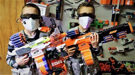 Boys Nerf Gun Battle- Health