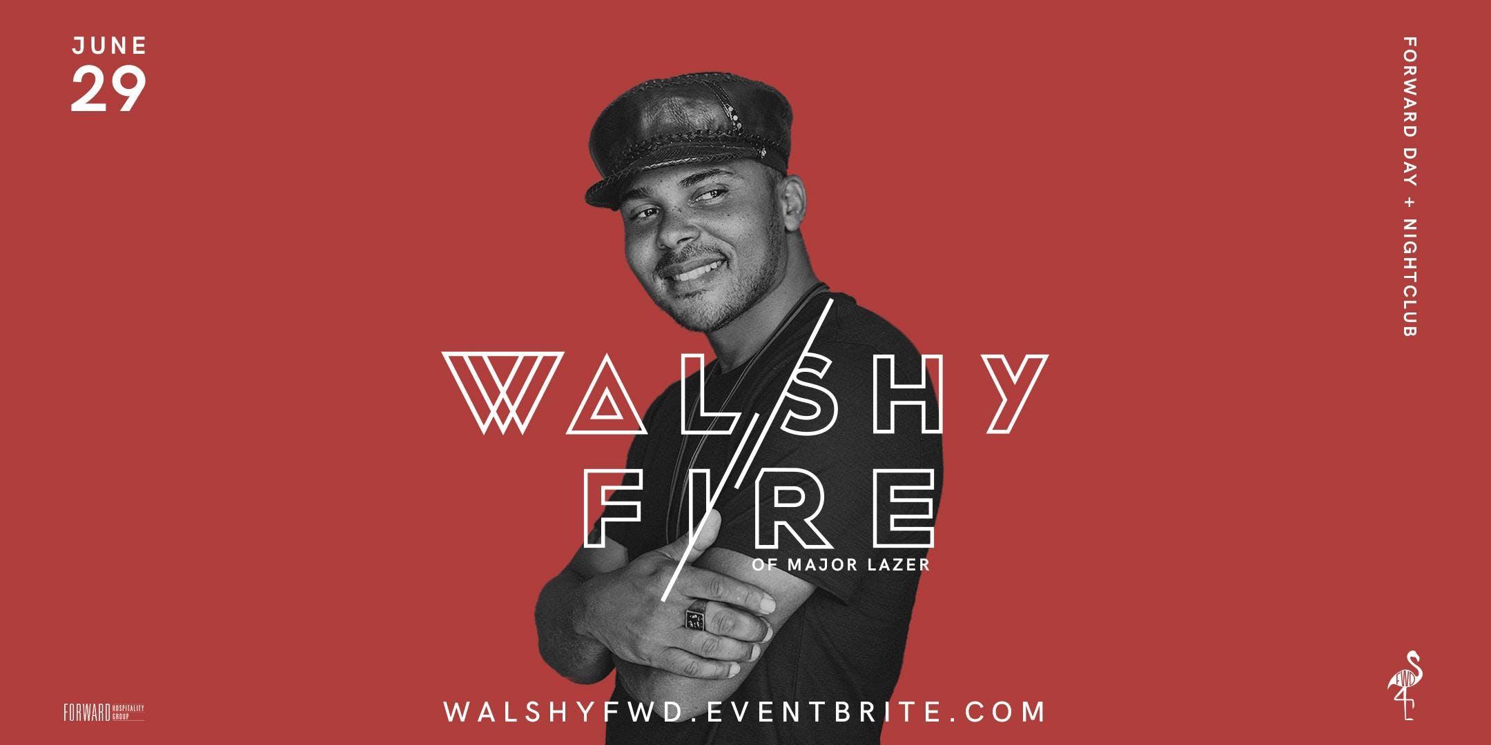 Walshy Fire of Major Lazer at FWD Day  Nightclub