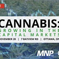 Cannabis Growing in the Capital Markets (Ottawa)