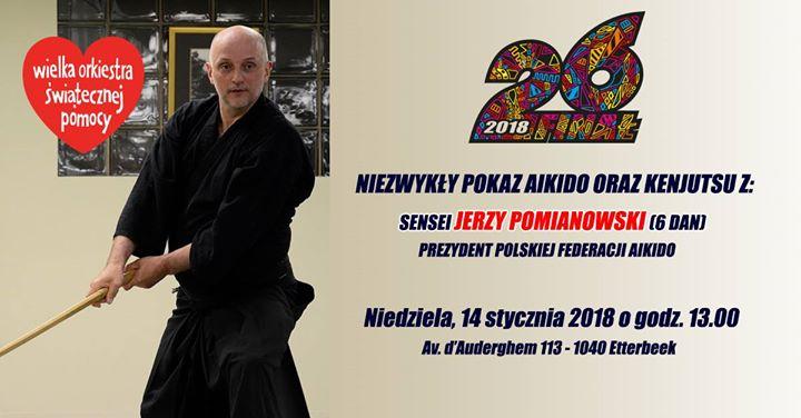 Pokaz aikido i kenjutsu z sensei Jerzym Pomianowskim