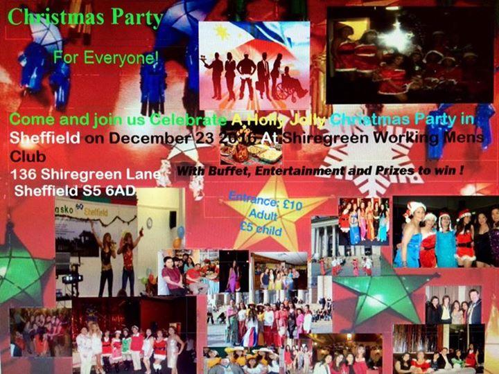 Kabayan Christmas Party 2016 at Shiregreen Working Mens Club