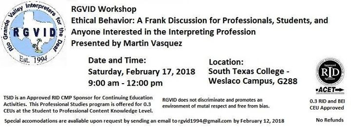 Ethical Behavior: A Frank Discussion Workshop at Stc Weslaco