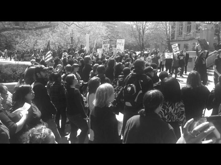 Blackout Demonstration - Against the American Vanguard