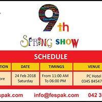 FES 9th Higher Education Spring Show 2018 - Lahore