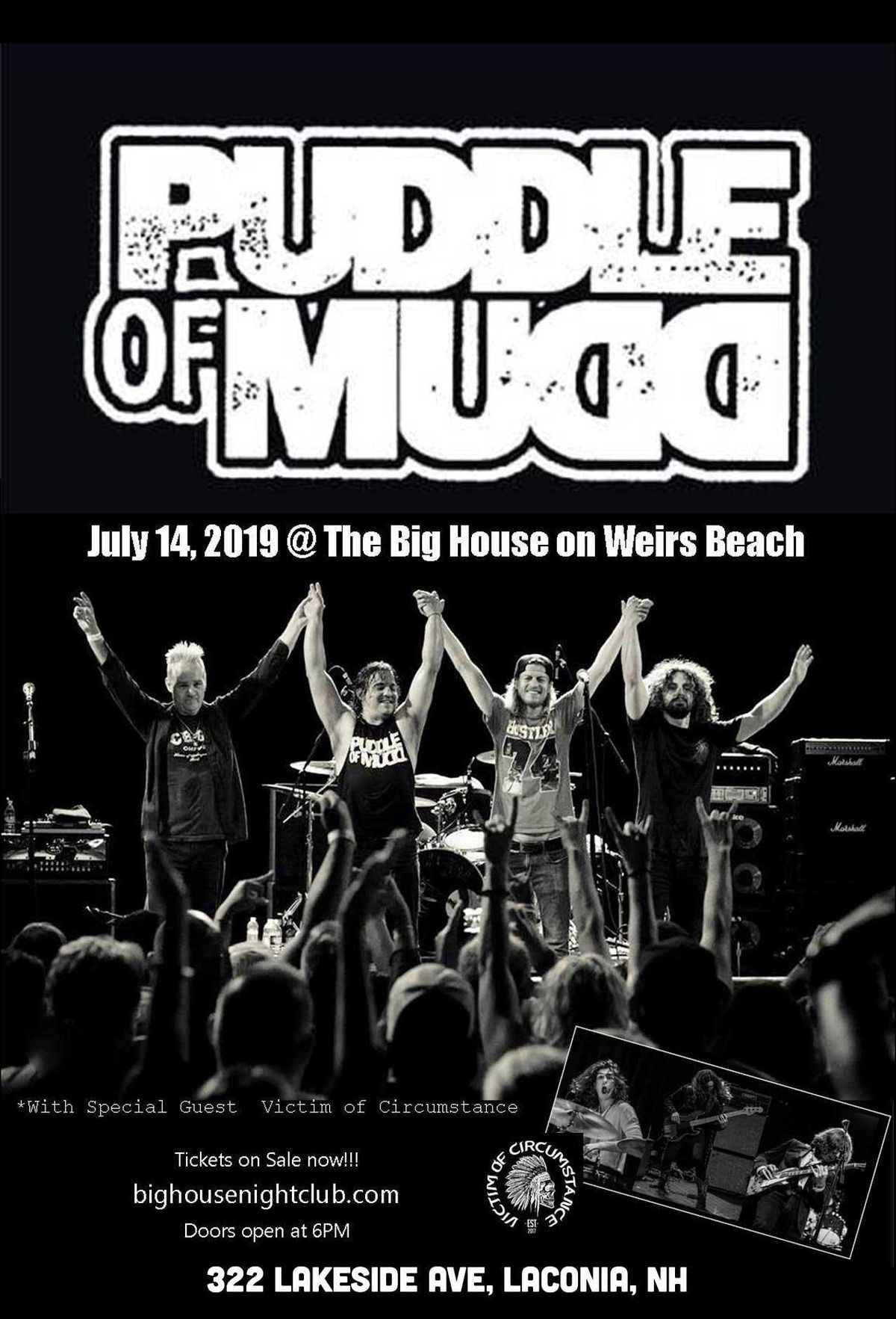 Puddle of Mudd @ The Big House Nightclub at 322 Lakeside Ave