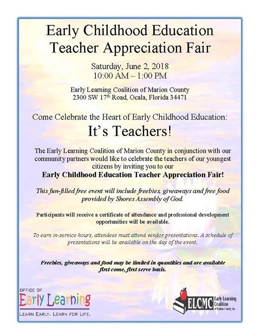 Early Childhood Education Teacher Appreciation Fair At Early