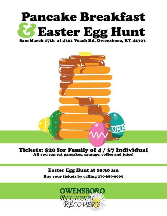 pancake breakfast easter egg hunt at owensboro regional recovery