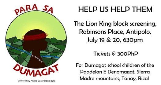 Para sa Dumagat Lion King block screening