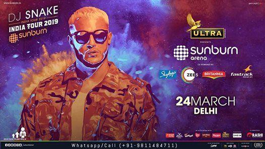Sunburn Arena With DJ SNAKE  Delhi NCR