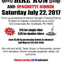 Bike Run &amp Spaghetti Dinner