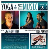 Yoga W Craig Costello   Live Music W Lila Kirtan (Orlando FL)