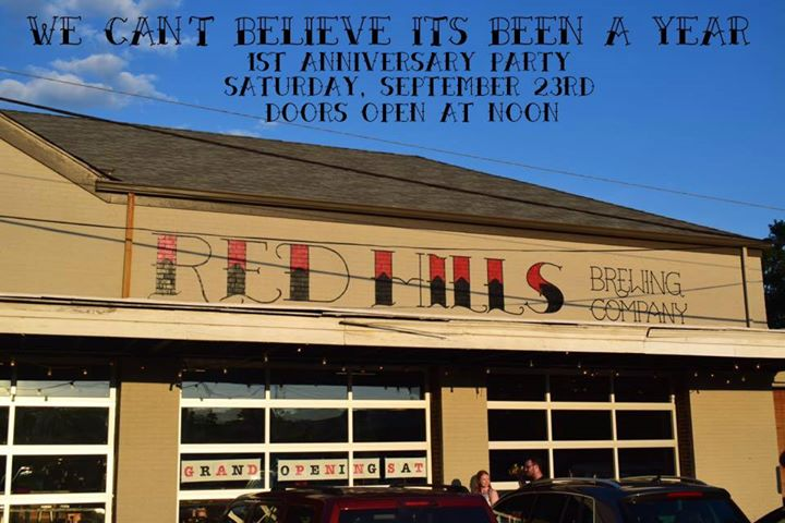 1st anniversary party at red hills brewing company homewood