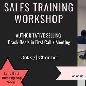 Sales Training Workshop in Chennai  Authoritative Selling