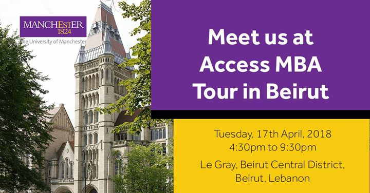 Meet us at Access MBA Tour in Beirut