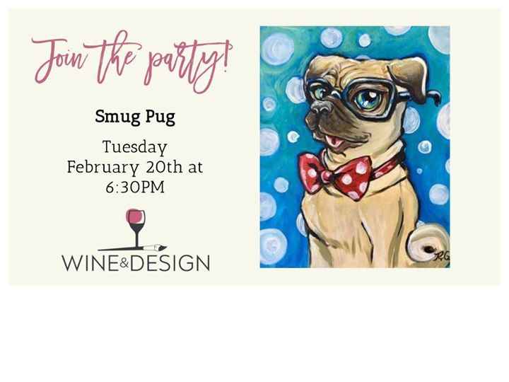 25 Paint Night With Wine Design Smug Pug At Wine Design