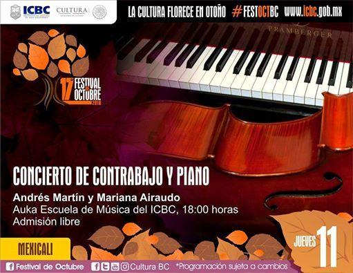 Concierto De Contrabajo Y Piano En Mexicali At Auka Escuela