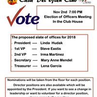 Club Officer  Election CDGC