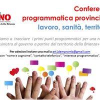Conferenza programmatica - Lavoro Sanit Territorio