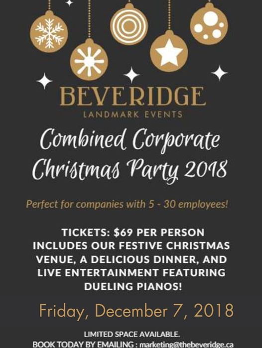 SOLD OUT 2ND Combined Corporate Christmas Party