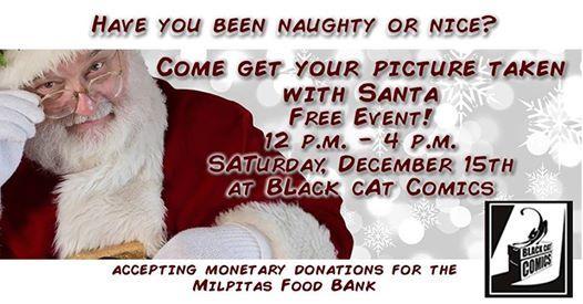 Picture With Santa At Black Cat Comics176 S Main St Milpitas