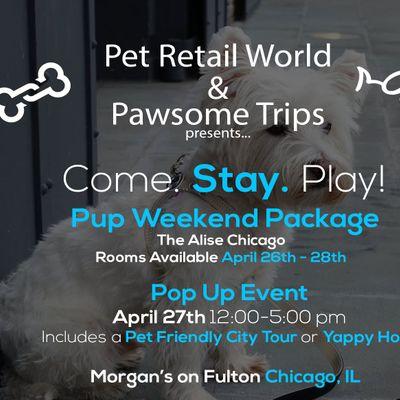 c267de7c0 Pawsome Trip to Chicago! Stay   Play   Pet Retail World Pop Up   Tour!