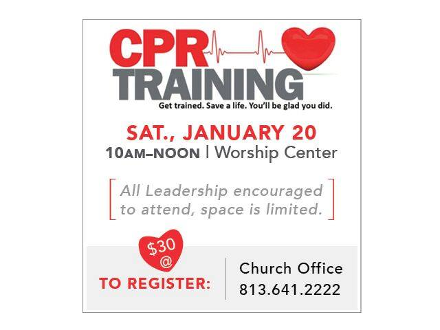 Cpr Training At Bell Shoals Baptist Church Apollo Beach Campus