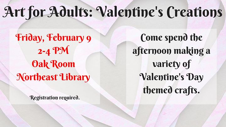 Art For Adults Valentines Creations At New Hanover County Northeast
