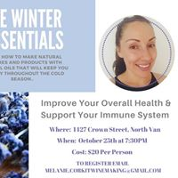 The Winter Essentials- An Essential Oil Workshop W Raquel Saboe