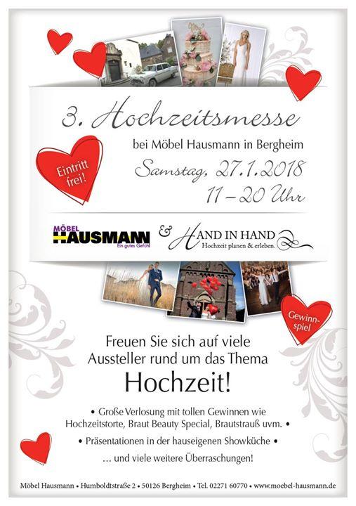 Hausmann Bergheim 3 hochzeitsmesse bei möbel hausmann köln