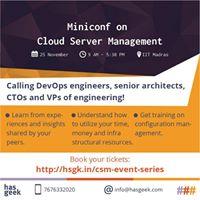 Cloud Server Management Miniconf-Chennai