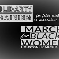 SOLIDarity training for the March for Black Women