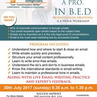 Business Email Draftng (B.E.D) - 4 Hour Workshop