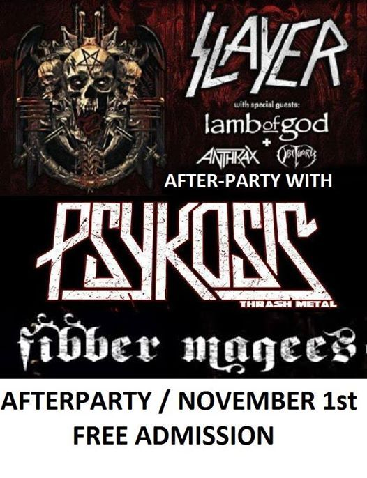 Slayer After-party with Psykosis Thrash Metal - free in