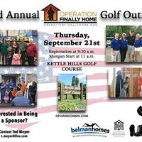 3rd Annual Golf Outing for Operation Finally Home