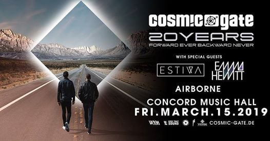 Cosmic Gate [20 Years] at Concord Music Hall - Chicago