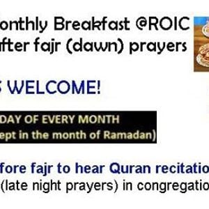 Monthly Qiyam Breakfast Club