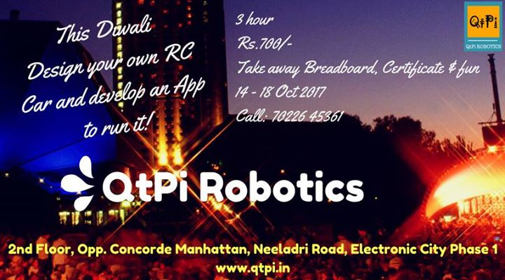 Design A Rc Car Develop An App At Qtpi Robotics Bangalore