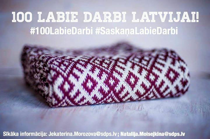 100 labie darbi Latvijai  100
