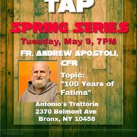Bronx Theology on Tap &quot100 Years of Fatima&quot