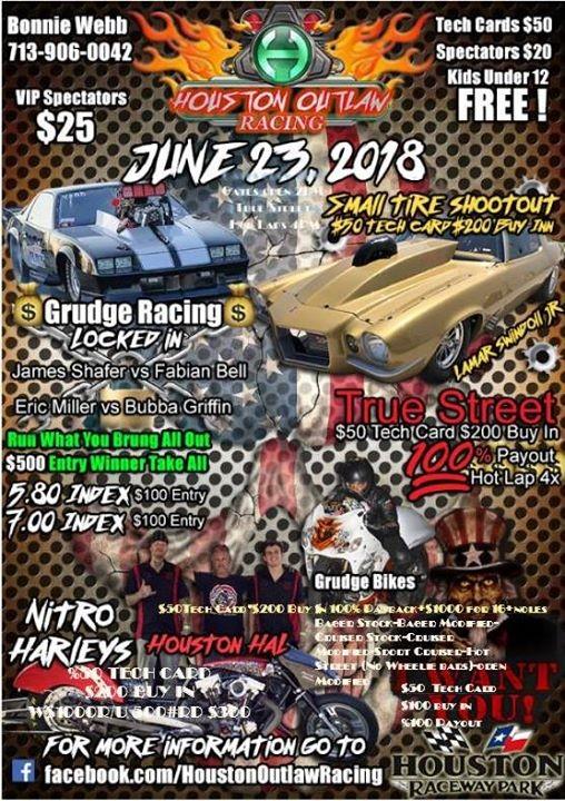 Houston Outlaw Racing Drag Racing Series - Radial Prep at Houston